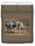 Pig With An Attitude Duvet Cover