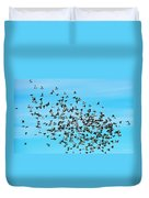 Pigeon Flight Duvet Cover
