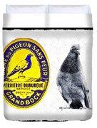 Pigeon Grand Bock Duvet Cover