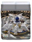 Pigeons Of Maria Luisa Parque Duvet Cover