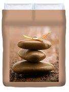 Pile Of Massage Stones Duvet Cover