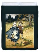 Pilgrim Schoolchildren Duvet Cover