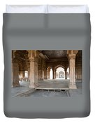 Pillars Of Building Inside Red Fort Duvet Cover