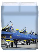 Pilots Of The Blue Angels Flight Duvet Cover