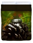 Pine Cone And Wedding Band Duvet Cover