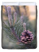 Pine Cone At Sundown Duvet Cover