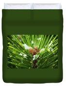 Pine Cone Cloeup Duvet Cover