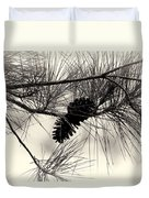 Pine Cones In The Treetops Duvet Cover