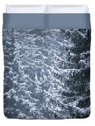 Pine Trees Covered In Snow, Les Arcs Duvet Cover