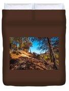 Pine Trees In El Chorro. Spain Duvet Cover