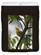 Northern Parula Duvet Cover