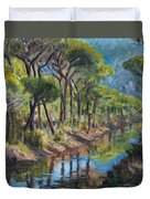Pine Wood Reflections Duvet Cover