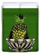 Pineapple Study  Duvet Cover