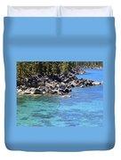 Pines Boulders And Crystal Waters Of Lake Tahoe Duvet Cover