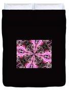 Pink And Purple Gemstones Jewelry Kaleidoscope Duvet Cover