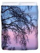 Pink Blue Sky Duvet Cover