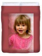 Pink Bubbles Duvet Cover