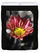 Pink Chrysanthemum Duvet Cover