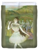 Pink Dancer  Duvet Cover by Edgar Degas