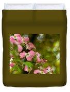 Pink Dogwood Blooms Duvet Cover