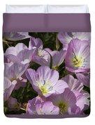 Pink Evening Primrose Wildflowers Duvet Cover
