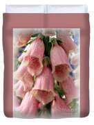 Pink Foxglove Duvet Cover by Lainie Wrightson