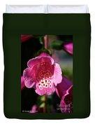 Pink Foxglove Duvet Cover