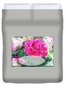 Pink Geranium Greeting Card Blank Duvet Cover