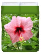 Pink Hibiscus V2 Duvet Cover