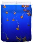 Pink Jellyfish Floating In A Tank At Duvet Cover