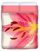 Pink Lily Square Version Duvet Cover
