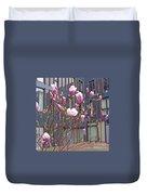 Pink Magnolia. Square Format Duvet Cover