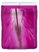 Pink Marabou Macro Duvet Cover