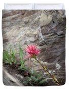 Pink Mountain Flower Duvet Cover