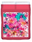 Pink Mums Duvet Cover