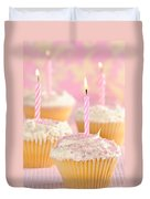 Pink Party Cupcakes Duvet Cover
