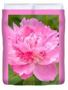 Pink Peony Duvet Cover