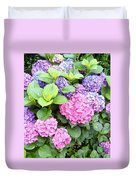 Pink Purple Hydrangeas Duvet Cover