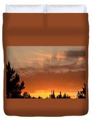 Pink Rays And Orange Skies Duvet Cover