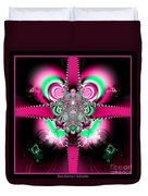 Pink Ribbons And Bow Fractal 75 Duvet Cover