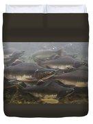 Pink Salmon Oncorhynchus Gorbuscha Duvet Cover