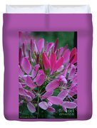 Pink Spider Flower Duvet Cover