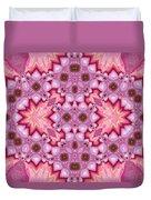 Pink Splash Mandala Abstract Duvet Cover