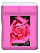 Pink Sunrise Rose Duvet Cover