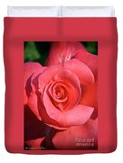 Pink Tea Rose Duvet Cover