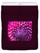 Pink To Purple Dahlia Duvet Cover