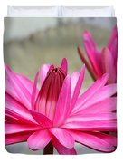 Pink Water Lily Duo Duvet Cover