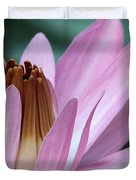 Pink Water Lily Macro Duvet Cover