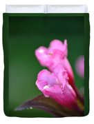 Pink Weigela Duvet Cover