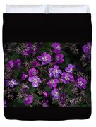 Pinkish-purple Wildflowers Geranium Duvet Cover